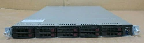"Supermicro SYS-1028U-TRT+ 2x 6C E5-2620v3 64GB Ram 10x 2.5"" Bay Server X10DRU-i+"